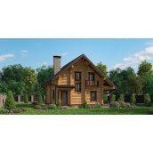 Строительство жилого дома с оцилиндрованного бревна 150 м2