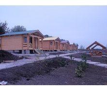 Строительство дома для отдыха из клееного евробруса 30 м2