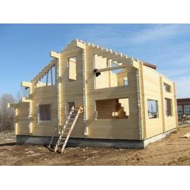 Строительство деревянного дома из евробруса