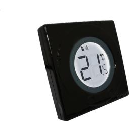 Сенсорный терморегулятор черный Salus S-line ST320PB (5060103691319)