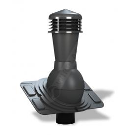 Вентиляционный выход Wirplast Uniwersal К26 110x500 мм антрацитовый RAL 7021