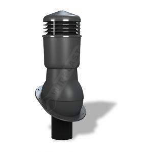 Вентиляционный выход Wirplast Normal К24 110x500 мм антрацитовый RAL 7021