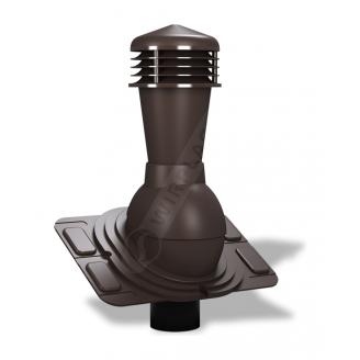 Вентиляционный выход Wirplast Uniwersal К26 110x500 мм коричневый RAL 8019