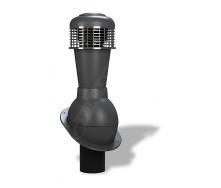 Вентиляционный выход Wirplast Normal К43 110x500 мм антрацитовый RAL 7021