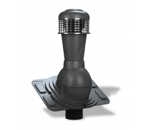 Вентиляционный выход Wirplast Uniwersal К44 110x500 мм антрацитовый RAL 7021