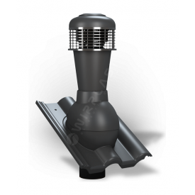 Вентиляционный выход Wirplast Tile К62 110x500 мм антрацитовый RAL 7021