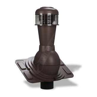 Вентиляционный выход Wirplast Uniwersal К44 110x500 мм коричневый RAL 8019