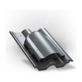 Вентилятор подкровельного пространства Wirplast Tile P60 285x210 мм антрацитовый RAL 7021