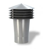 Колпак для вентиляционного выхода Wirplast Gravitation Vent К11-2 110x306 мм серый RAL 7046