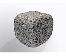 Бруківка галтована з покостівського граніту 10х10х5 см світло-сіра