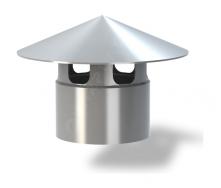 Колпак для вентиляционного выхода Wirplast Roof Vent К4-1 110x143 мм серый RAL 7046