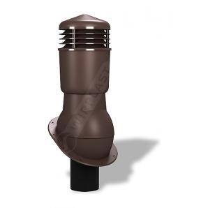 Вентиляционный выход Wirplast Normal К24 110x500 мм коричневый RAL 8017