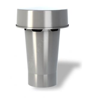Колпак для вентиляционного выхода Wirplast Roof Vent К3-1 110x303 мм серый RAL 7046