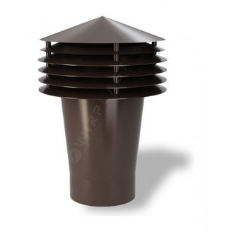 Колпак для вентиляционного выхода Wirplast Gravitation Vent К12-2 160x420 мм коричневый RAL 8017