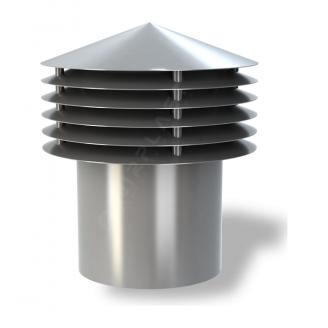 Колпак для вентиляционного выхода Wirplast Gravitation Vent К13-2 200x338 мм серый RAL 7046