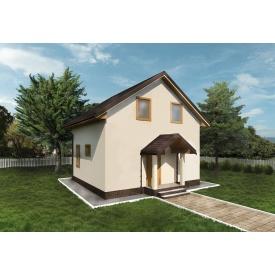 Будівництво каркасного будинку на сталевому каркасі 64,85 м2
