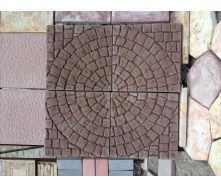 Тротуарна плитка Коло 450х450х45 мм коричневий