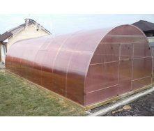 Теплиця збірна НОРД з оцинкованої труби з полікарбонатом Greenhouse NANO 6 мм 4х4х2,5 м