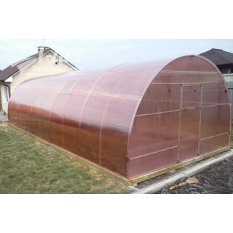 Теплиця збірна НОРД з оцинкованої труби з полікарбонатом Greenhouse NANO 8 мм 4х6х2,5 м