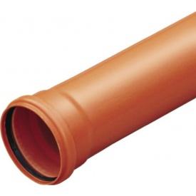 Труба зовнішня каналізаційна 110 мм 1 м