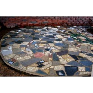 Брекчия гранитная в плитах 2-3 см колормикс