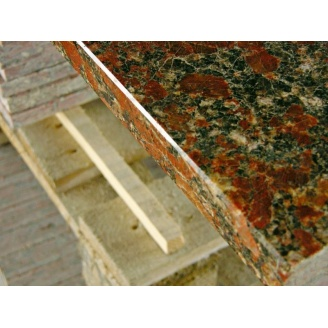 Столешница из камня Rosso Santiago 600х40 мм красная