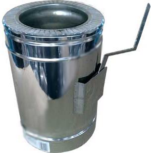Регулятор тяги дымохода в нержавеющем кожухе 150 мм 0,5 мм