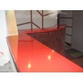 Стільниця з кварцу червона під замовлення