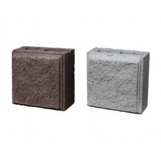 Блок колотый половинка с фаской 190х190х90 мм