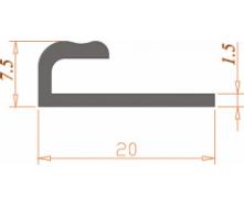 Алюминиевый профиль специальной конфигурации 20*7,5*1,5/AS