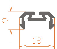Алюминиевый светодиодный профиль Z200/AS