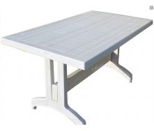 Стол прямоугольный 120см с пластиковыми ножками белый