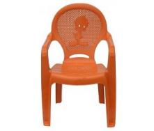 Детское кресло пластиковое Утенок оранжевое