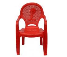 Детское кресло пластиковое Утенок красное