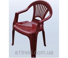 Стул пластиковый кресло Луч вишневый