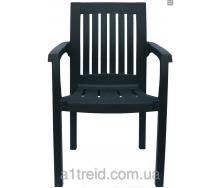 Кресло пластиковое Базилик зеленое стул пластиковый