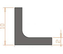 Алюминиевый угол AS 10x10x2 мм