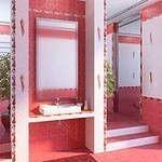 Облицювальна плитка Олександрія рожева 20*30см