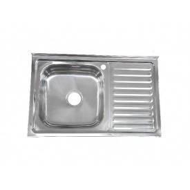 Мийка накладна Platinum 80x50