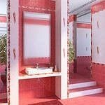 Облицовочная плитка Александрия розовая 20*30см