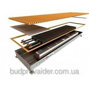 Конвектор принудительной конвекции, для влажных помещений с двумя теплообменниками