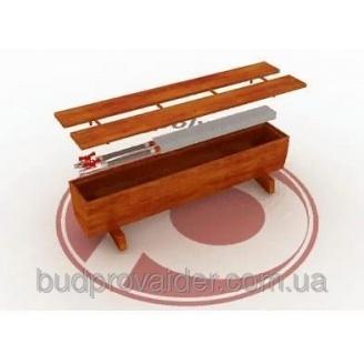 Напольный декоративный конвектор в дубовом корпусе (без вентилятора)