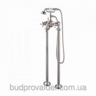 Смеситель напольный с ручным душем KEF-16019 BN