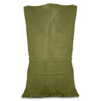Мешок полипропиленовый зеленый 55х105 см, 40 кг (Украина)
