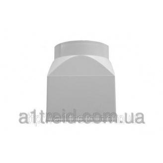 Соединитель эксцентриковый, пласт., плоский/круглый канал, 60х120 мм/D 100 мм (612СП10КП) З'єднувач ексцентриковий, пласт., плаский/круглий канал,