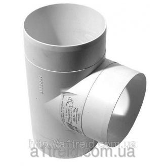 Тройник круглый, пласт., D 100 мм (10ТП) Трійник круглий, пласт., D 100 мм (10ТП)