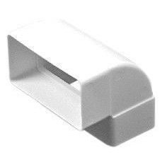 Колено плоское вертикальное, пластик. 60х120 мм, 60х120х102 мм (612КВП) Коліно пласке, вертикальне, пласт., 60х120 мм, 60х120х102 мм (612КВП)