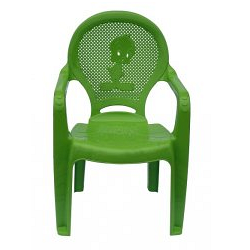 Детское кресло пластиковое Утенок зеленое