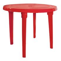 Стол круглый красный диаметр 90 см