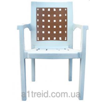 Кресло пластиковое Хризантема белое стул пластиковый